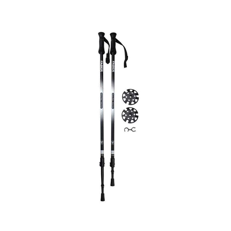 Faber Quicklock Heavy Duty Telescopic 2-Section Pole Set,EQUIPMENTSNOWSHOESACCESSORYS,FABER,Gear Up For Outdoors,