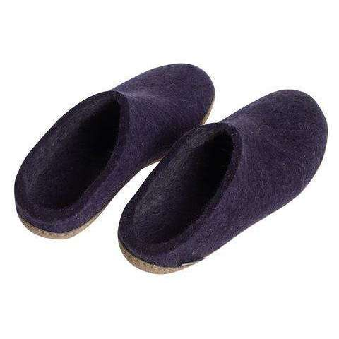 Glerups Unisex The Open Heel Slipper with Leather Sole,MENSFOOTWINTERSLIPPERS,GLERUPS,Gear Up For Outdoors,