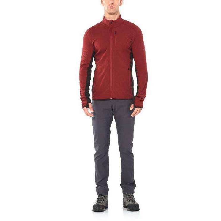 Icebreaker Mens Descender Long Sleeve Zip Jacket,,,Gear Up For Outdoors,