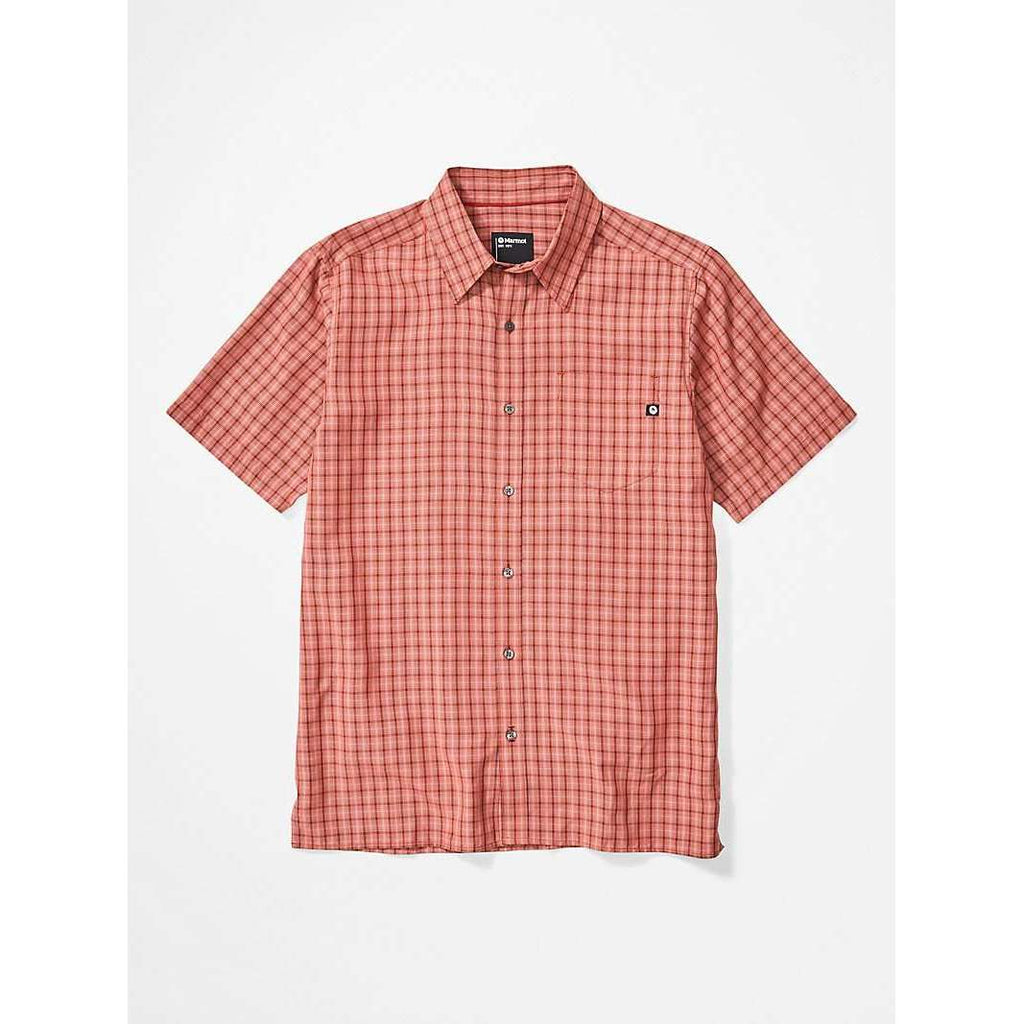 Marmot Mens Eldridge SS Shirt,MENSSHIRTSSS BUT PTN,MARMOT,Gear Up For Outdoors,