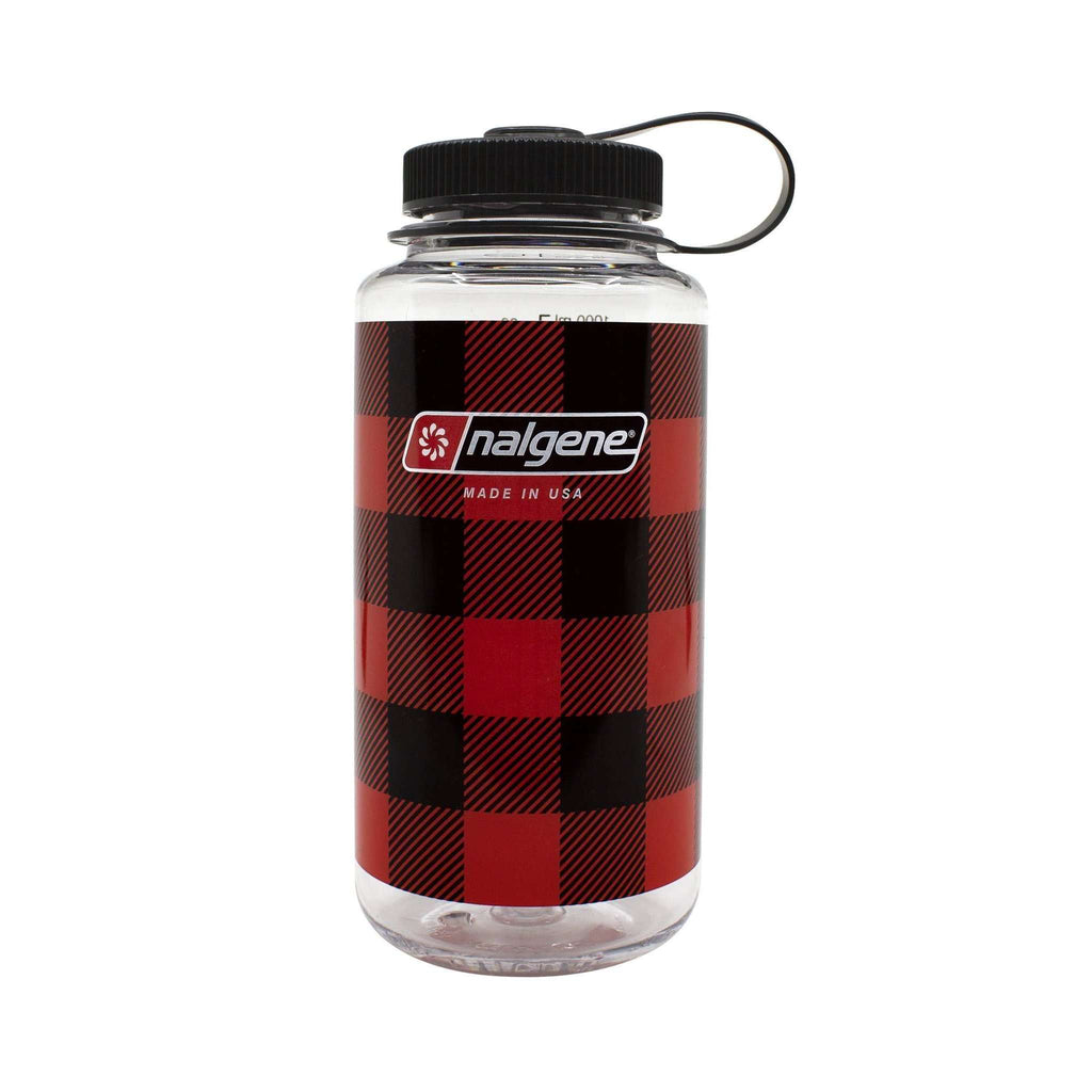 Nalgene Tritan Wide Mouth Loop Top Bottle (32oz/1.0L) Plaid Edition,EQUIPMENTHYDRATIONWATBLT PLT,NALGENE,Gear Up For Outdoors,