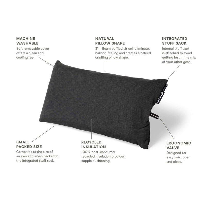 Nemo Fillo Elite Luxury Backpacking Pillow,EQUIPMENTSLEEPINGPILLOWS,NEMO EQUIPMENT INC.,Gear Up For Outdoors,