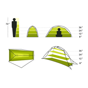 Nemo Hornet Ultralight 1P Tent (1 Person/3 Season),EQUIPMENTTENTS1 PERSON,NEMO EQUIPMENT INC.,Gear Up For Outdoors,