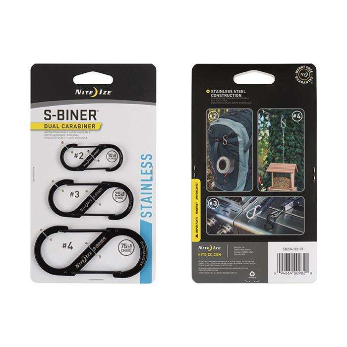 Nite Ize S-Biner Dual Carabiner 3 Size Combo Pack - Stainless Steel,EQUIPMENTMAINTAINFASTNERS,NITEIZE,Gear Up For Outdoors,