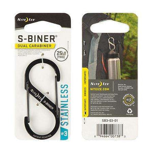 Nite Ize S-Biner Dual Carabiner #3 Stainless Steel,EQUIPMENTMAINTAINFASTNERS,NITEIZE,Gear Up For Outdoors,