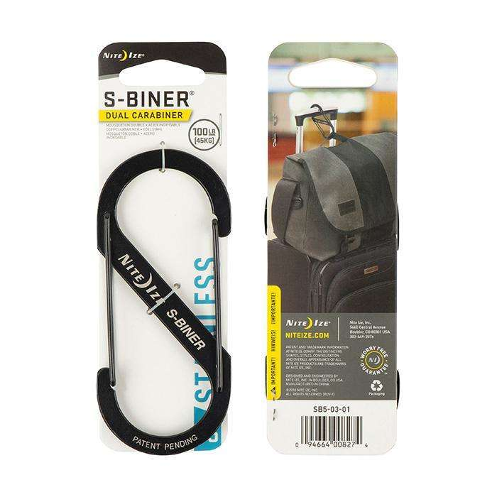 Nite Ize S-Biner Dual Carabiner #5 Stainless Steel,EQUIPMENTMAINTAINFASTNERS,NITEIZE,Gear Up For Outdoors,