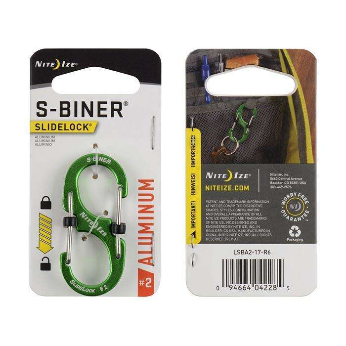 Nite Ize S-Biner Slidelock #2 Aluminum,EQUIPMENTMAINTAINFASTNERS,NITEIZE,Gear Up For Outdoors,