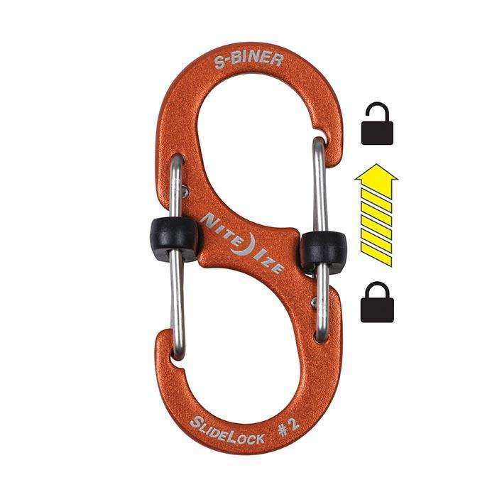 Nite Ize S-Biner Slidelock #3 Aluminum,EQUIPMENTMAINTAINFASTNERS,NITEIZE,Gear Up For Outdoors,