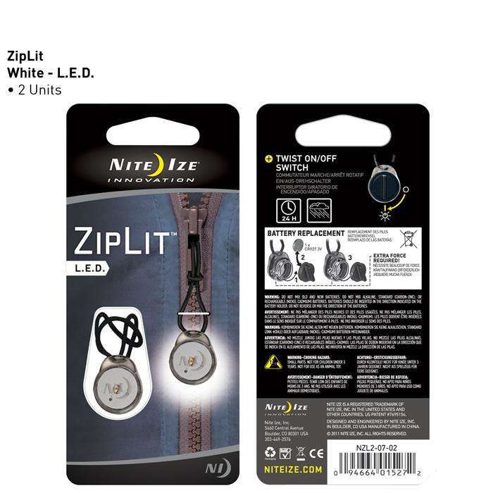 Nite Ize ZipLit LED Zipper Pull Light,EQUIPMENTLIGHTACCESSORYS,NITEIZE,Gear Up For Outdoors,