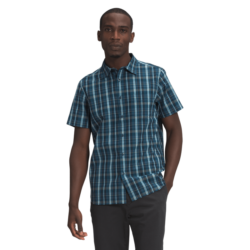 The North Face Mens Hammetts SS Shirt,MENSSHIRTSSS BUT PTN,THE NORTH FACE,Gear Up For Outdoors,