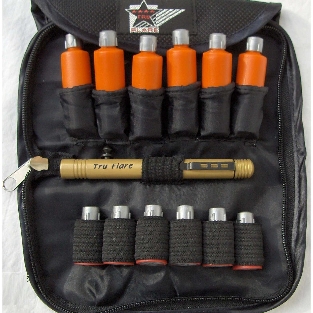 TruFlare Deluxe Soft Case Signal Kit Combo - Centre Fire,EQUIPMENTPREVENTIONFLRE WHSTL,TRUFLARE,Gear Up For Outdoors,