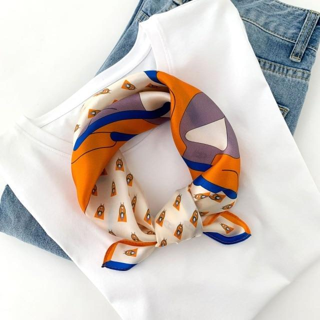 Bandana Orange & Bleu | Pince & Barrette