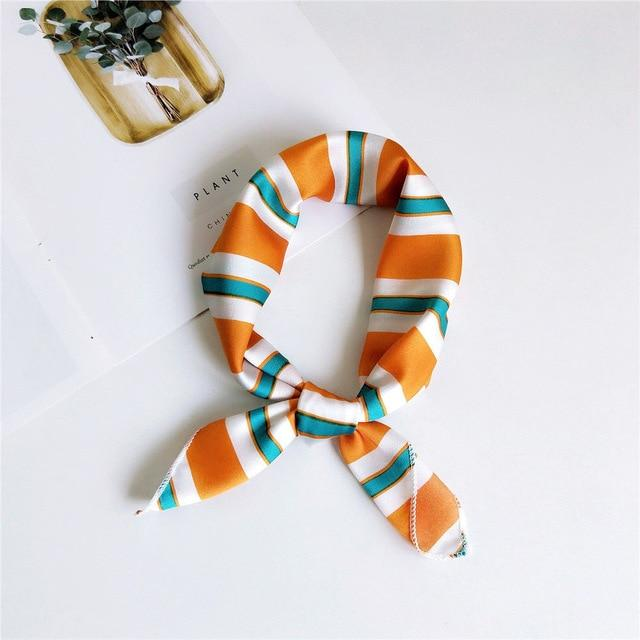 Bandana Orange Rayé | Pince & Barrette