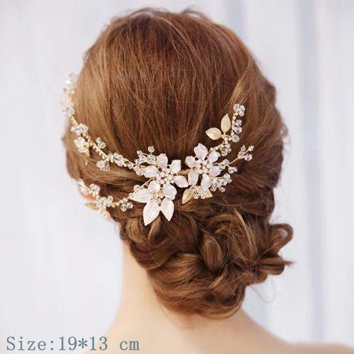 barrette cheveux <br> mariage strass
