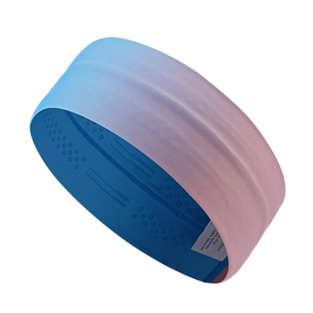 bandeau large silicone sport cheveux antiderapant