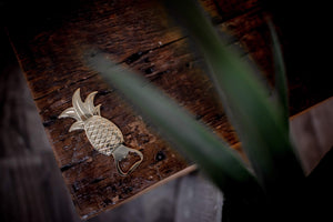 Golden Pineapple Bottle Opener