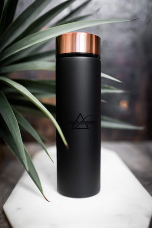 Matte Black Alpha Femme Water Bottle