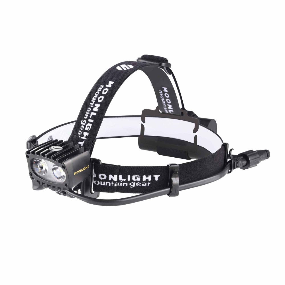 Bright As Day 1800 Moonlight headlamp NZ with head strap from The Snow Department