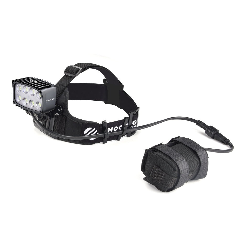 Bright As Day 2800 Moonlight headlamp NZ with head strap from The Snow Department