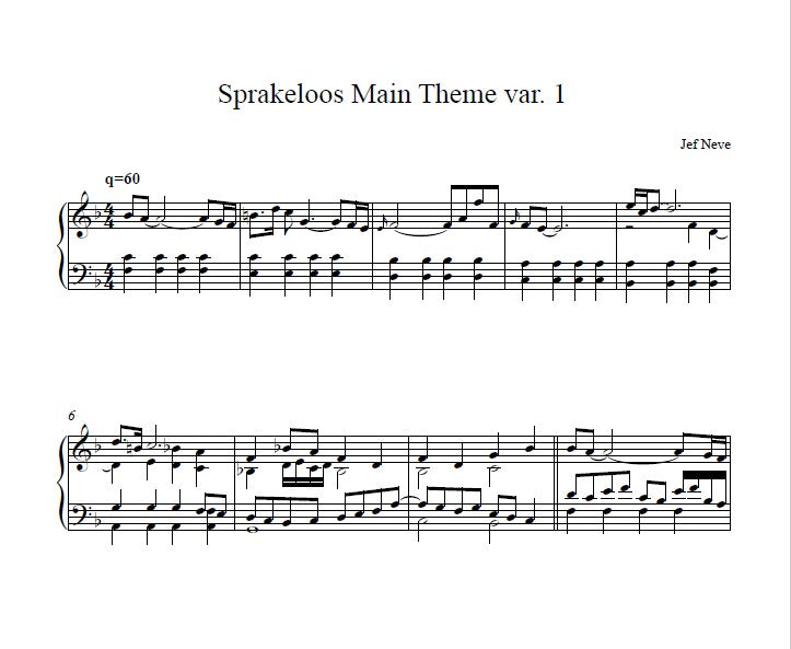 Sprakeloos Main Theme Variatie 1