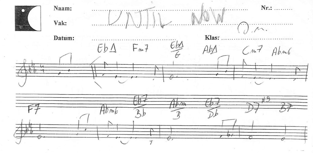 Until Now (manuscript score)