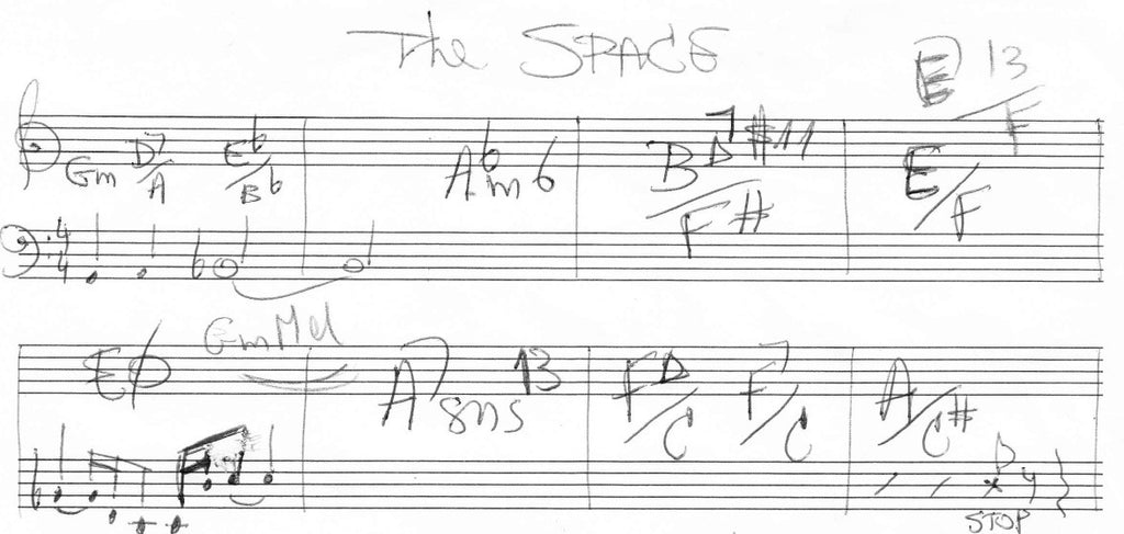 The space we need (manuscript score)