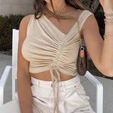 Ruched Knit Tank