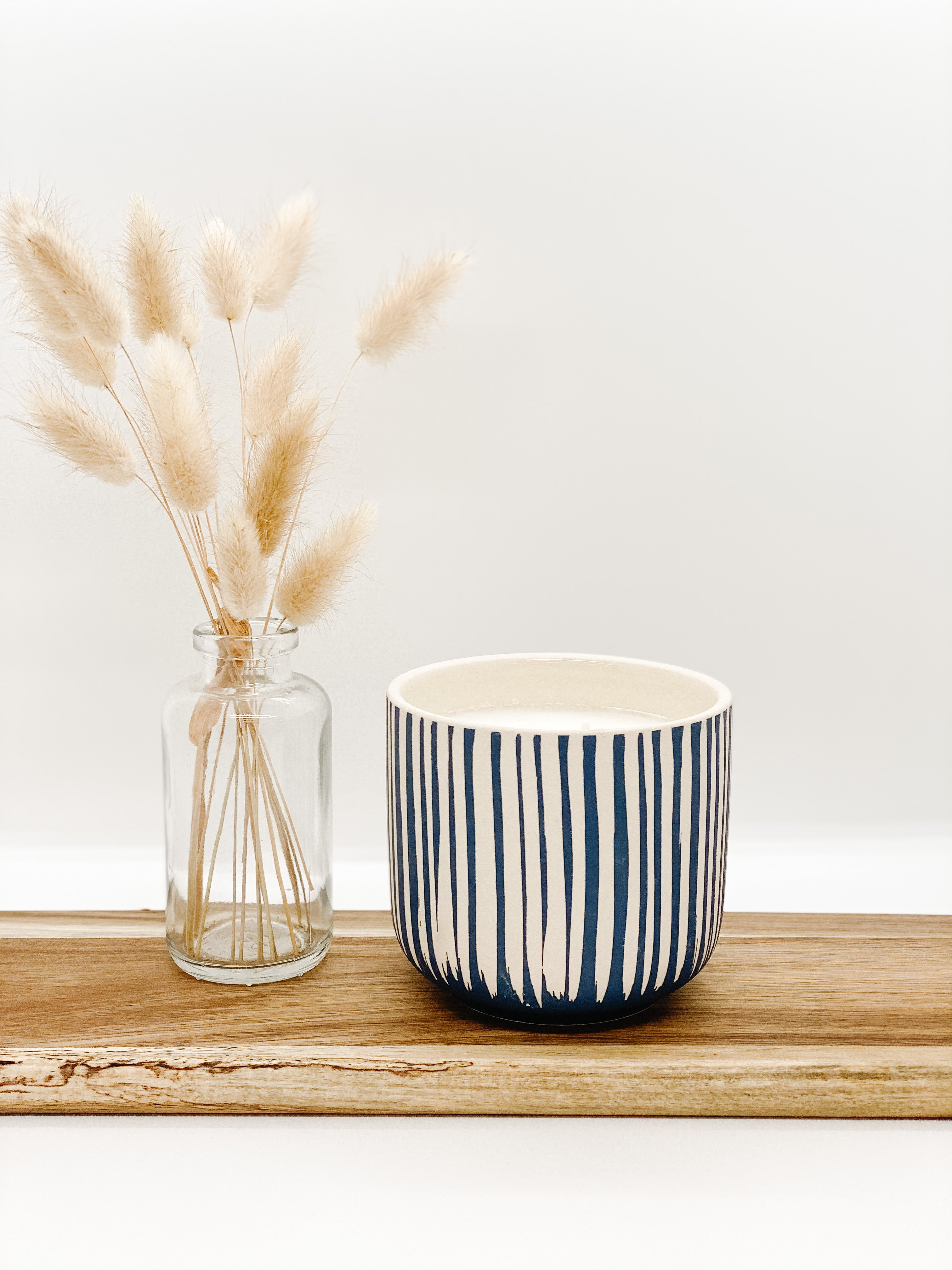 Limited Blue Stripe Soy Candle