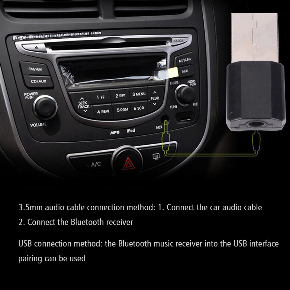 Mini Bluetooth AUX Receiver Adapter
