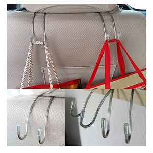 Metal Car Seat Hook for Car Bag Purse Cloth Grocery