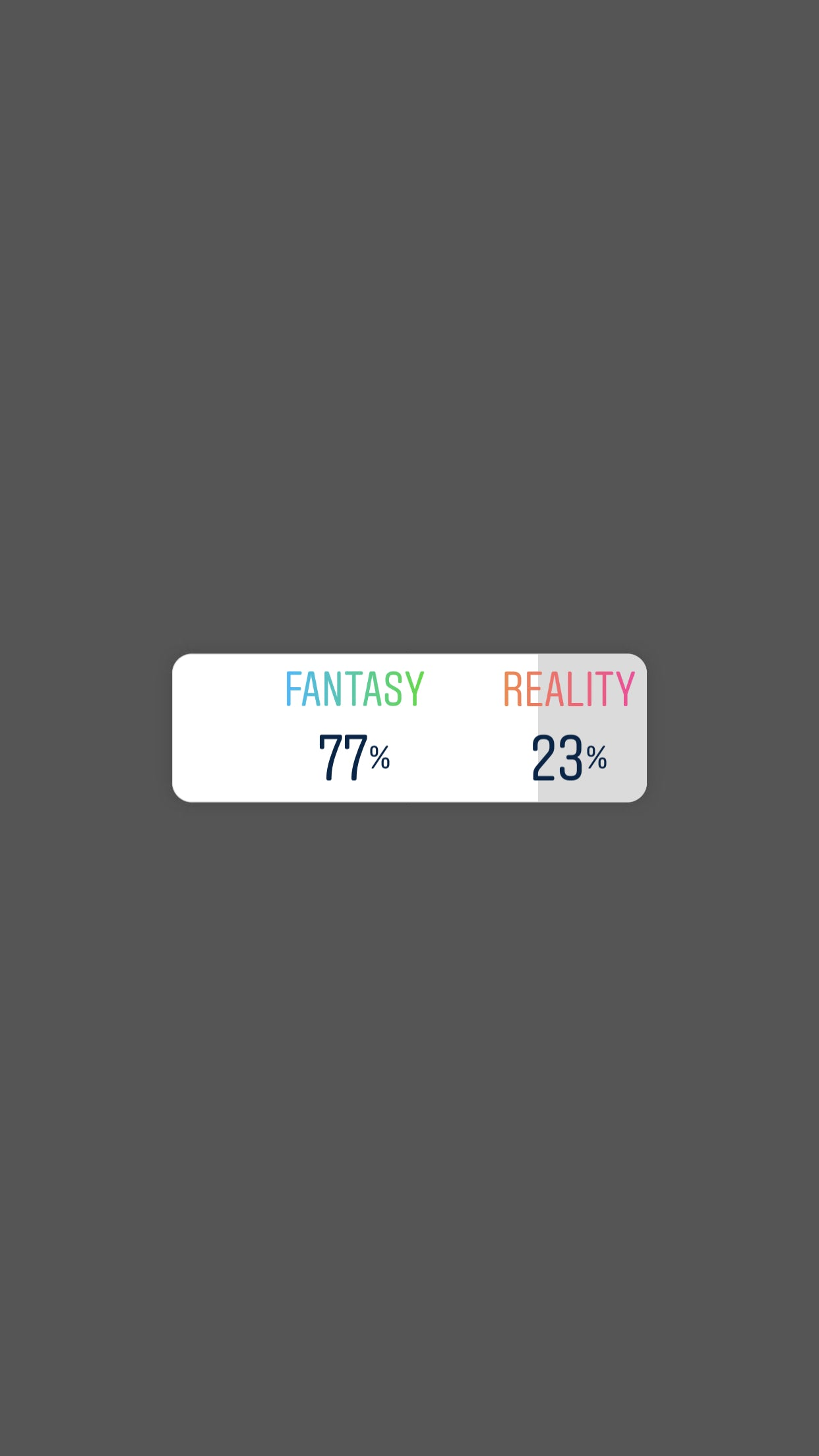 Results of an Instagram Poll on Fantasy and Reality