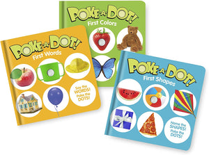Melissa & Doug Children's Books 3-Pack – Poke-a-Dot First Words, First Shapes, First Colors $12.92
