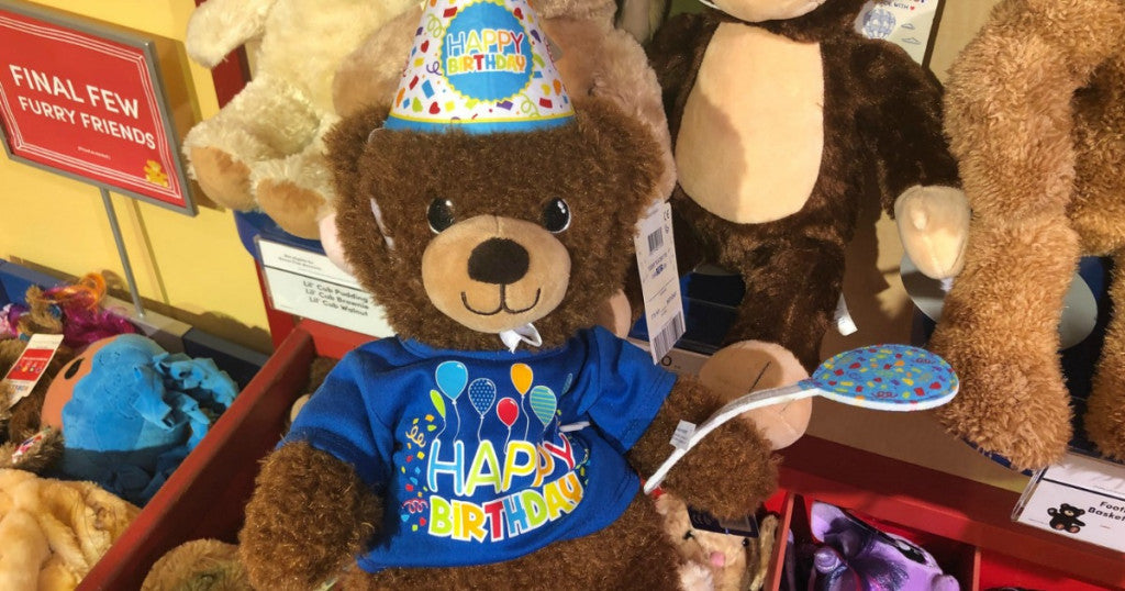 Pay Your Age for Birthday Treat Bear at Build-A-Bear | As Low As $1
