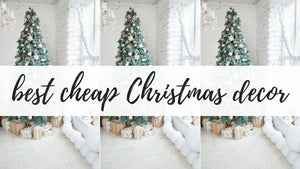 This post is all about cheap Christmas decor.