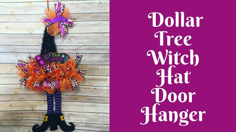 Halloween Crafts: Dollar Tree Witch Hat Door Hanger by This Southern Girl Can (2 years ago)