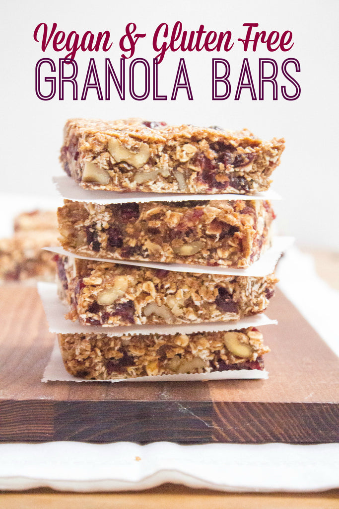 With many of you on the road enjoying summer travels right now, I thought it was the perfect time to re-share this old favorite portable vegan + gluten free granola bars recipe