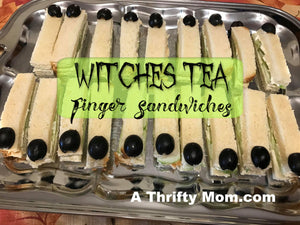 Witches Tea Finger Sandwiches