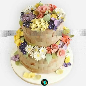 The spring baked goods are bursting with floral decorations and delight with colorful cream