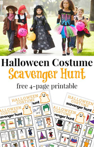 Make Halloween and trick-or-treating even more exciting with a Halloween costume scavenger hunt