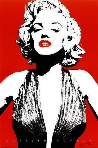 Minimalist Marilyn Monroe Artwork