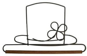 6in Leprechaun Hat Hanger With Stained Dowel Silver