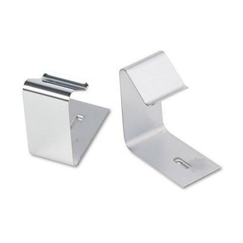 Quartet : Flexible Metal Cubicle Hangers for 1 1/2 to 2 1/2in Panels, Two per Set -:- Sold as 2 Packs of - 2 - / - Total of 4 Each