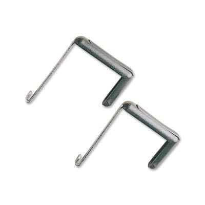 QUARTET MFG 7502 Adjustable Cubicle Hangers for 1 1/2 to 3 Inch Panels, Aluminum/Black, 2/Set