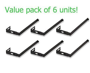 Universal 08173 Adjustable Cubicle Hangers, Black, Set of Two