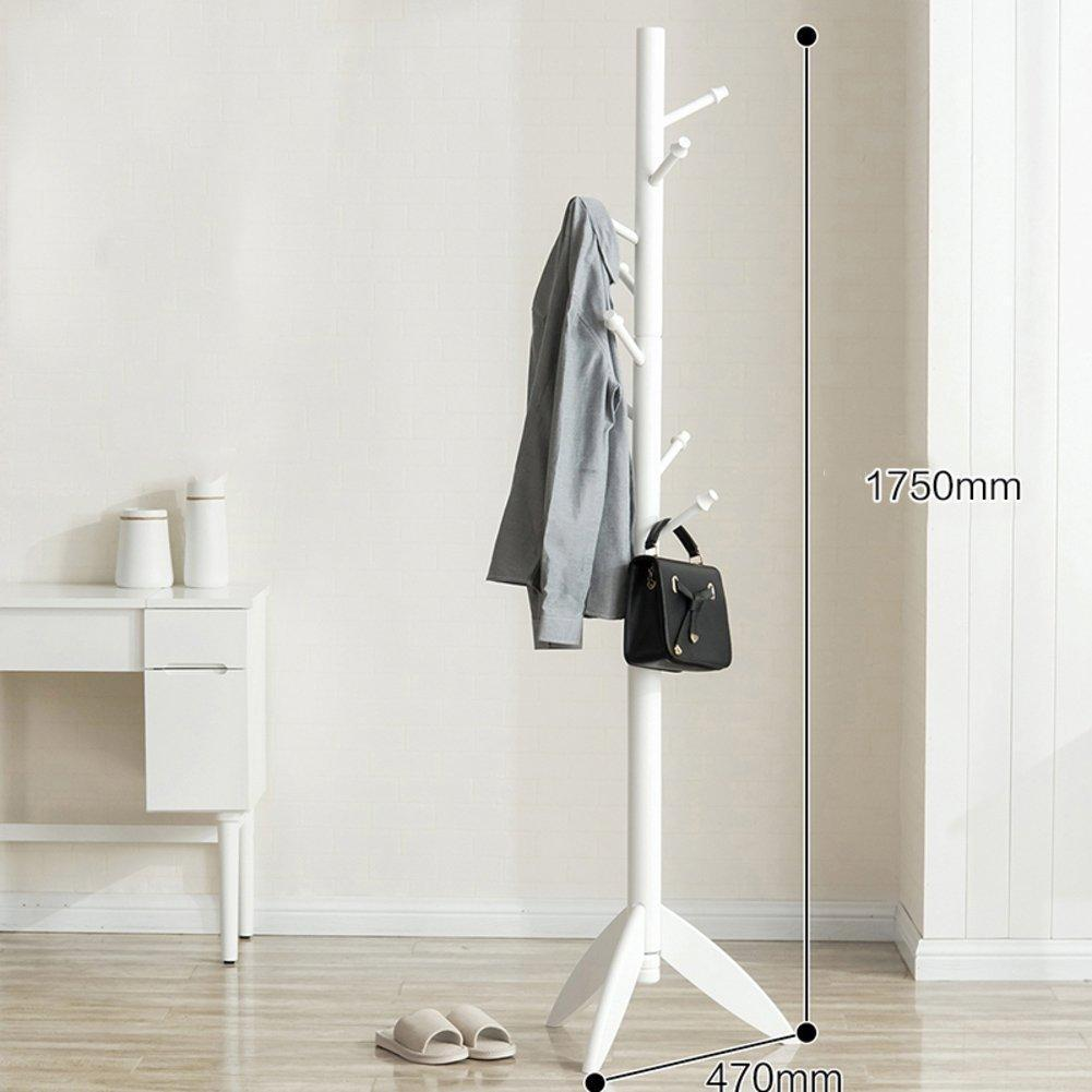 SWEET&HONEY Cloth Hanger Rack Stand Tree hat Hanger Holder Free Standing Solid Wood Coat Rack Floor Hanger for Bedroom Living Room Hall-10-hooks-R 47x175cm(19x69inch)