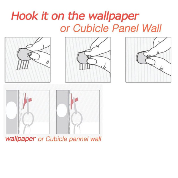 Panel Wall Clip Por Fabric Panels Paper Wall Metal Pin Cubicle Hooks Key Hangers 7pcs (White)