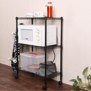 3-Shelf Steel Kitchen Cart with Wheels??¼ Multiple Colors