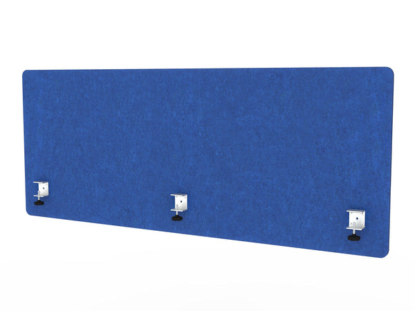 Order now varoom acoustic partition sound absorbing desk divider kit 1 60 w x 24h back panel 2 30w x 24h side panels privacy desk mounted cubicle panels cobalt blue