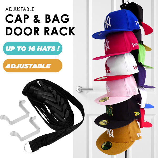 Leihou61 Adjustable Cap & Bag Door Rack
