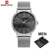 NAVIFORCE Stylish Top Brand Luxury Stainless Steel Women Watches. Stainless Steel  Strap, Quartz Wristwatches For Woman.
